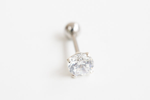 925 CZ simple circle piercing-am