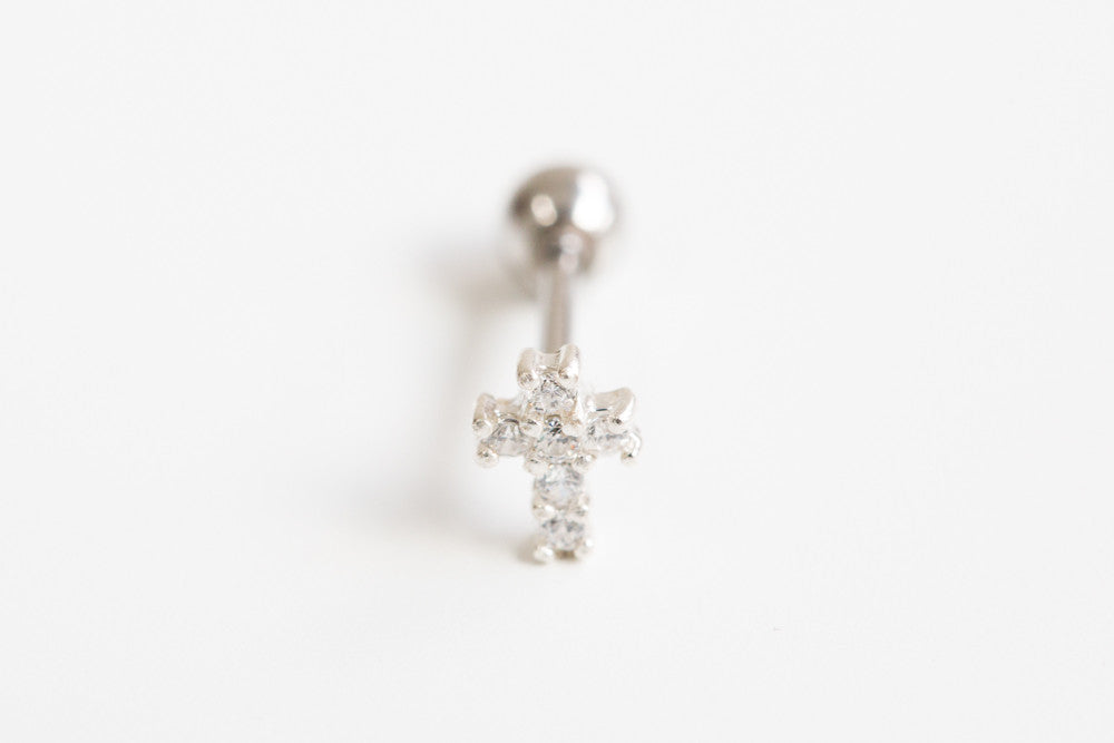 925 cz cross piercing-at