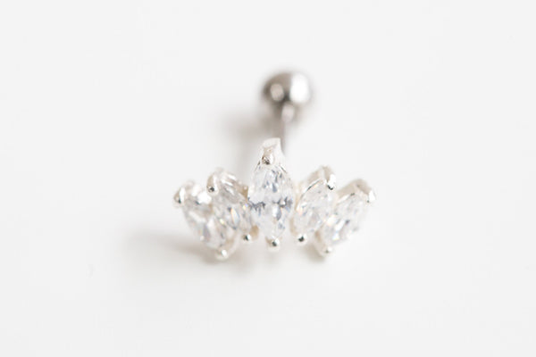 925 cz crown piercing-au