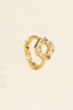 14K Solid Gold Jewelry Open Round Cz Earring Hoop Ring