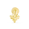 14k Gold Cartilage Bee Internally Internal Threaded Labret