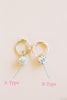 14K Solid Gold Round Clay Cz Piercing Earring Ear Hoop Ring