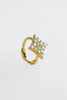 14K Solid Gold Jewelry Cz Delicate Diamond Shape Piercing Earring Hoop Ring