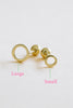 14k Solid Gold Open Round Barbell Ball Ear Post Stud Earring Piercing