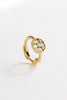 14K Solid Gold Jewelry Round Plate Cz Earring Hoop Ring