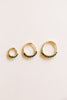 14K Solid Gold Black Cz Round Piercing Earring Ear Hoop Ring