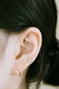 14k Gold Jewelry Cz Egg Oval Round Barbell Ear Stud Earring Piercing