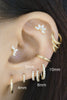 Cz Tragus Cartilage Helix Hoop Ring Piercing Earring 14K Solid Gold Jewelry