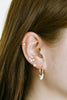 14K Solid Gold Jewelry Hexagon Piercing Earring Hoop Ring