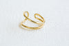 Bohemian Open Small  Wave Round Adjustable Ring For Women Teens Girls