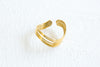 Bohemian Open Big Wave Round Adjustable Ring For Women Teens Girls