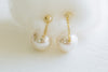 925 Sterling Silver Big Round Ball Simulated Pearl Ear Studs Post Earrings