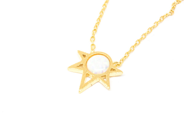 Star Opal pendant charm necklace a13
