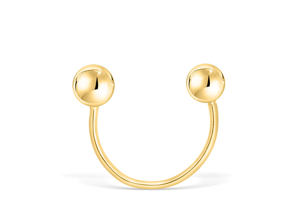 14k Yellow Gold Round Ball Jewelry Tragus Cartilage Snug Rook Helix Lobe Eyebrow Circular Horseshoe Piercing Earring