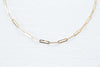 14K solid Gold Link Square Chain Neklcace