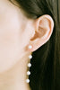 925 Sterling Silver Dangling Four Simulated Pearl Ear Studs Post Earrings