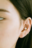 925 Sterling Silver Round Simulated Pearl Horseshoe Inner Conch Ear Cuff Earring