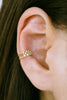 Simulated Diamond Cz Band Shape Non Pierced Ear Cuff Earring