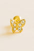 14K Gold Plated Stimulated Cubic Wing Butterfly Barbell Ball Stud Earring Piercing Stainless Steel