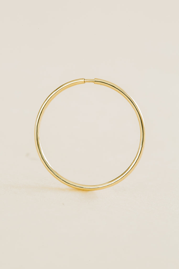 Slim Pipe Tragus Cartilage Helix Daith Hoop Ring Piercing Earring-14K Solid Gold Jewelry