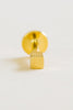 14k gold plated Cube type external labret