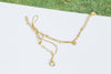14K Gold Mother's Bridesmaid Gift Personalized Bead Chain Anklet Bracelet