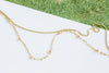 14K Gold Mother's Bridesmaid Gift Personalized Bead Chain Necklace