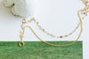 14K Gold Mother's Bridesmaid Gift Dragonfly Double Chain Anklet Bracelet