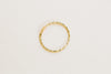 Twist Bling Circle Round Wave Pipe Hoop Ring Piercing Earring 14K Solid Gold