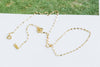 14K Gold Mother's Bridesmaid Gift Cute Personalized Dragonfly Chain Necklace