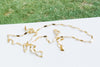 14K Gold Mother's Bridesmaid Gift Personalized Dragonfly Chain Necklace