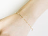 14K Gold Mother's Bridesmaid Gift Personalized Dragonfly Chain Anklet Bracelet