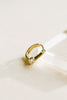 14K Solid Gold Jewelry 3mm Cz Stick Bar Piercing Earring Hoop Ring