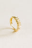 14K Solid Gold Winkle Earring Hoop Ring