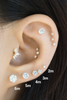 14k Gold Cartilage anti Tragus Forward Helix inner conch lobe cubic earring piercing Jewelry