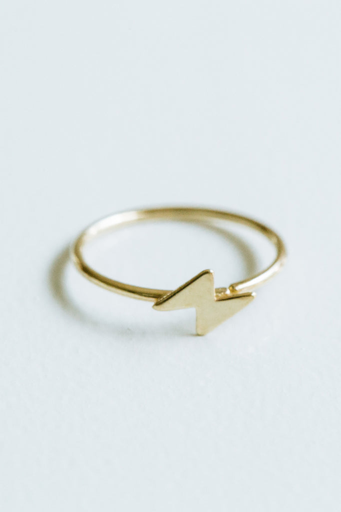 Lightning Bolt Cartilage Helix Hoop Ring Piercing Earring-14K Solid Gold Jewelry