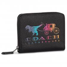 COACH - Small Zip Around Wallet With Rainbow Horse And Carriage