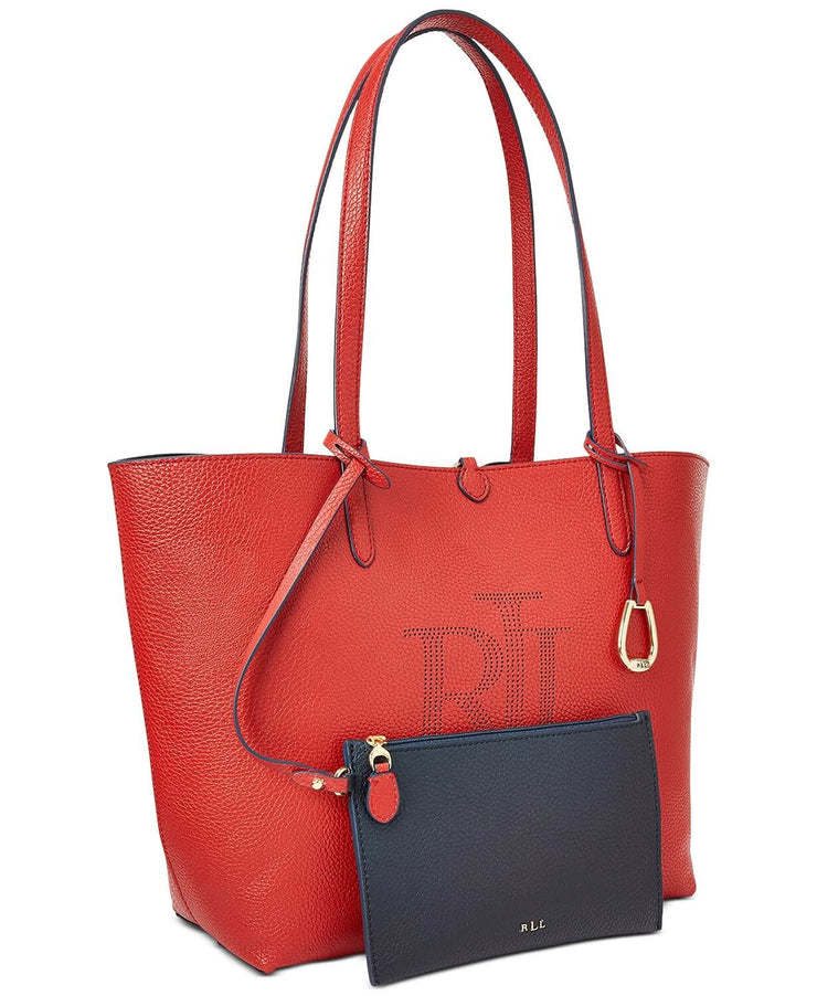 Lauren Ralph Lauren Logo Reversible Tote Red/Navy