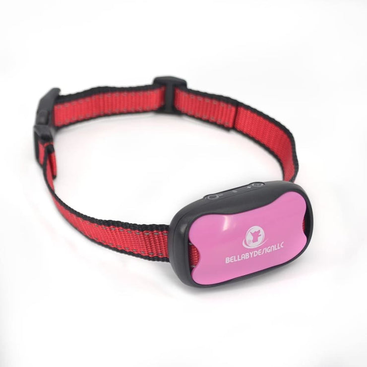 Anti barking collar NO SHOCK collar Pink + EXTRA BATTERY - Dog Training Collar No Shock