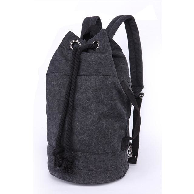 Backpack Drawstring Travel Luggage Bag - Black Big - Backpacp_Oct