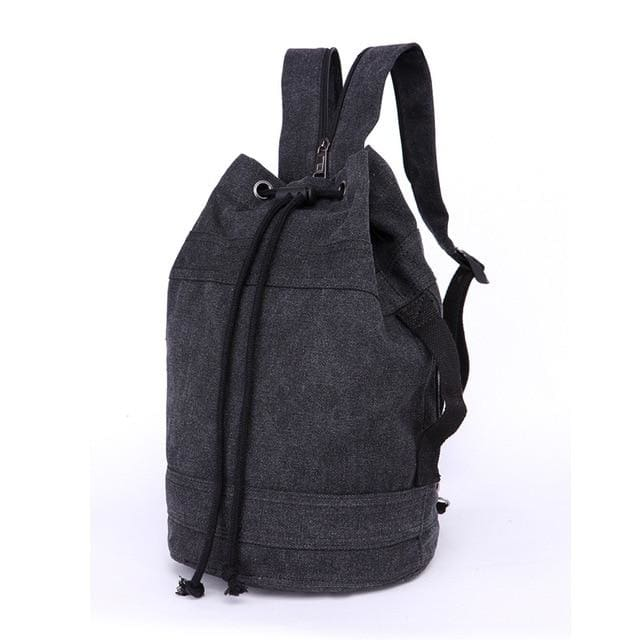 Backpack Drawstring Travel Luggage Bag - Black middle - Backpacp_Oct