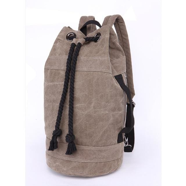 Backpack Drawstring Travel Luggage Bag - Brown Big - Backpacp_Oct