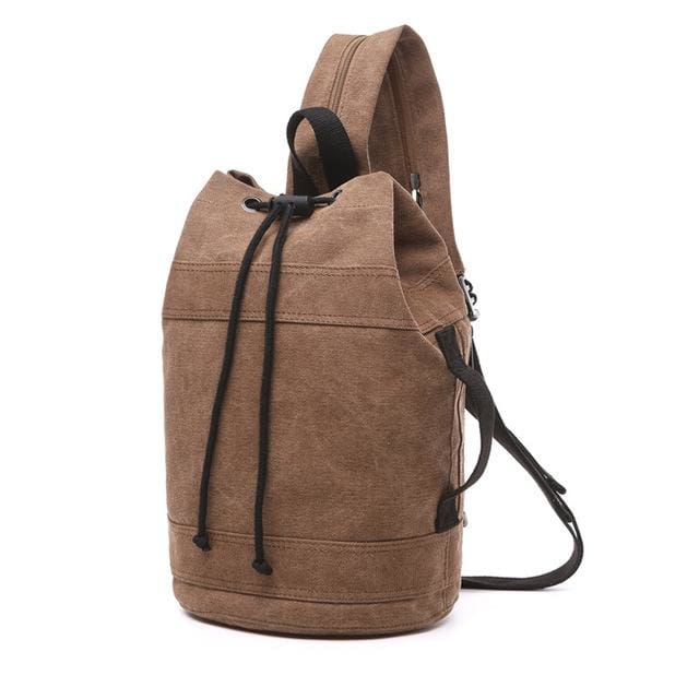 Backpack Drawstring Travel Luggage Bag - Coffee middle - Backpacp_Oct