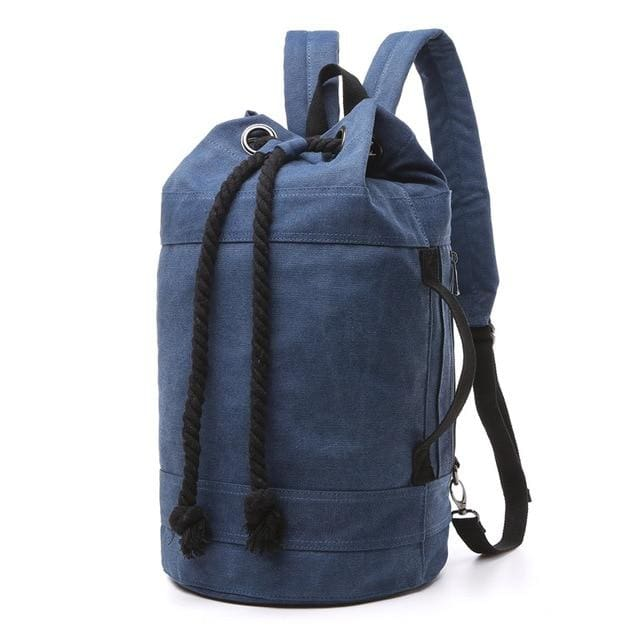 Backpack Drawstring Travel Luggage Bag - Dark Blue Big - Backpacp_Oct