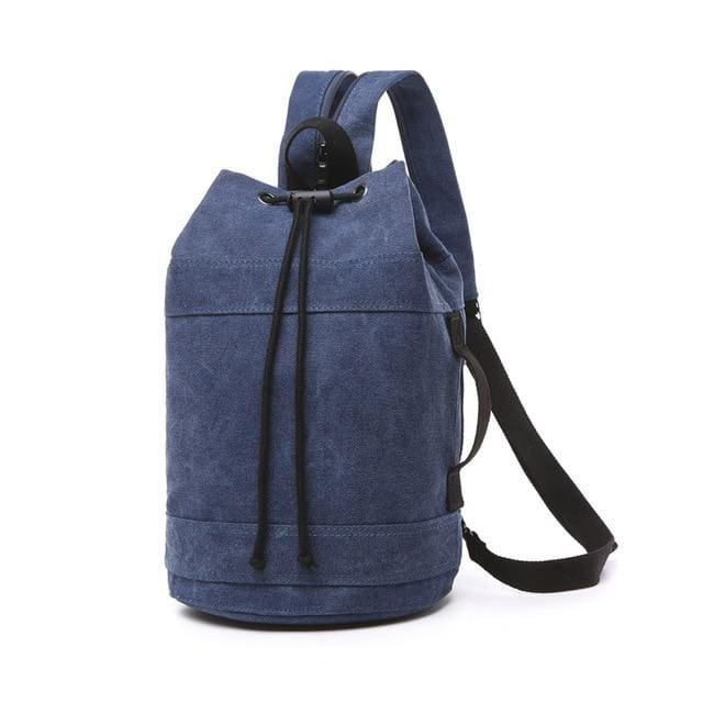 Backpack Drawstring Travel Luggage Bag - Dark Blue middle - Backpacp_Oct