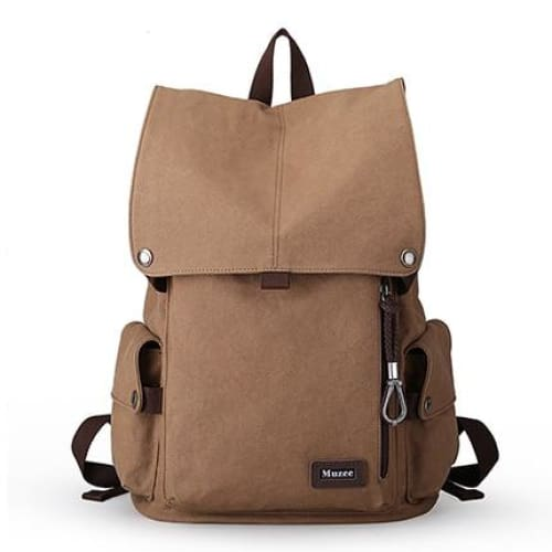 Backpack high capacity travel bag 15.6 inch Laptop - Light Coffee / 15 Inches - backpack