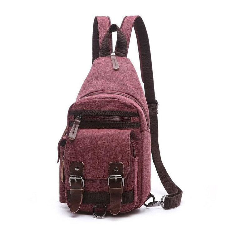 Backpack Shoulder Bags Multifunction Small Bag - Burgundy - Backpacp_Oct