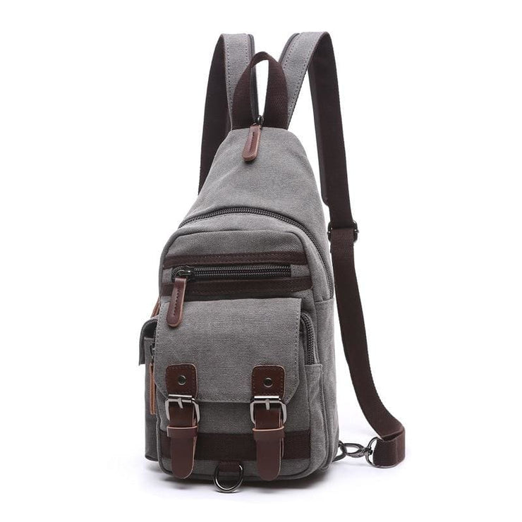 Backpack Shoulder Bags Multifunction Small Bag - Gray - Backpacp_Oct