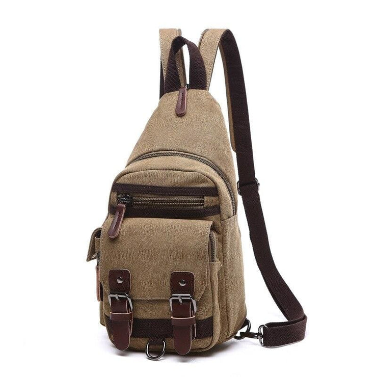 Backpack Shoulder Bags Multifunction Small Bag - Khaki - Backpacp_Oct