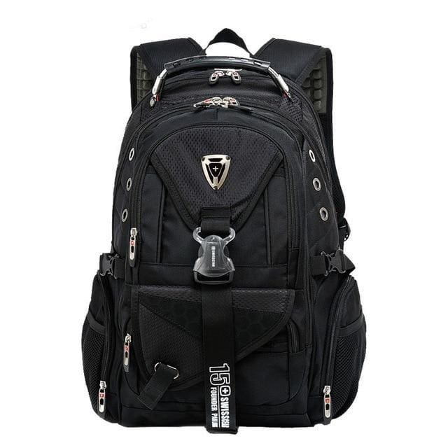 Backpack Swiss multi-functional 17 in waterproof - Black / 17 Inches - Backpacp_Oct